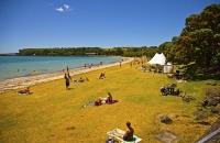 Auckland_East;Okahu_Bay;Auckland;Tamaki_Strait;crowds;sunbathers;Yachting;kayaki