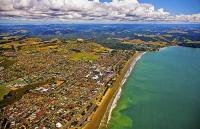Aerial;Orewa;Rodney;golden_sands;blue_sky;blue_sea;cumulus_clouds;sub_division