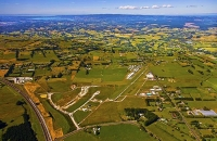 Aerial;Silverdale;Rodney;North_Shore_Airfield;Northern_Motorway;Auckland_blue_sk