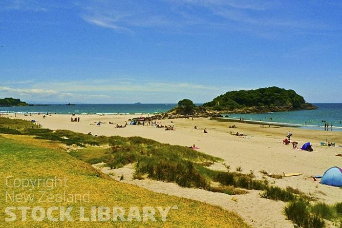 Mount Maunganui;Ocean Beach;Bay of plenty;blue seablue skysandy beaches;sea;sea fishing;harbour;bachs;holiday homes;sand dunes;high rise buildings;cruise ships;tourists;holiday makers
