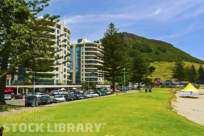 Mount Maunganui;Bay of plenty;blue seablue skysandy beaches;sea;sea fishing;harbour;bachs;holiday homes;sand dunes;high rise buildings;cruise ships;tourists;holiday makers;ocean beach