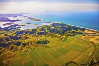 Aerial;Ohope_Beach_and_Ohiwa_Harbour;Bay_of_plenty;blue_sea;blue_sky;sandy_beach