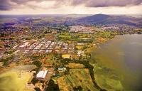 Aerial;Rotorua;Bay_of_Plenty;Waikato;Lake_Rotorua;tourists;visitor_centre;boat_h