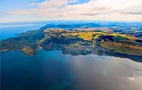 Aerial;Acacia_Bay;Trout_Fishing;Taupo;South_Waikato;pleasure_boat_harbour;dingie