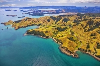 Aerial;Coromandel_Coastline;Coromandel;sandy_beaches;bachs;holiday_homes;blue_sk