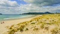 Whangamata;Coromandel;sandy_beaches;bachs;holiday_homes;blue_sky;blue_sea;bush;n