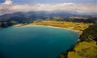 aerial;Hicks_Bay;blue_sea;blue_sky;sandy_beaches;sea;sea_fishing;harbour;bachs;F
