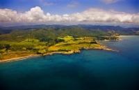 aerial;Otamaroa;blue_sea;blue_sky;sandy_beaches;sea;sea_fishing;harbour;bachs;Fi
