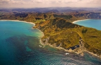Aerial;Eastland_Bays;Kaiaua_Bay;bluffs;cliffs;rocky_shorelines;sea_fishing;bush;