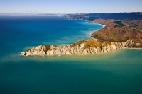 Aerial;Young_Nicks_Head;Gisborne;Young_Nicks_Head;blue_sky;blue_sea;bluffs;cliff