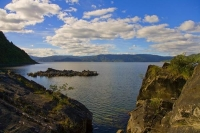 Lake_Waikaremoana;Hawkes_Bay;bluffs;cliffs;rocky_shorelines;bush;mountains;bush;