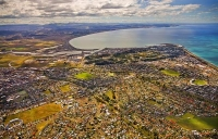 Aerial;Napier;Hawkes_Bay;suburburban;Gardens;Art_Deco;port;containers;logs;sculp
