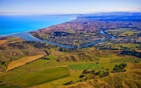 Aerial;Wairoa;Hawkes_Bay;bush;native_forrest;golden_sands;bluffs;River;cliffs;sa