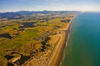 Aerial;Waikawa_Beach;Kapiti_Coast;sandy_beaches;golden_sand;horticulture;agricul