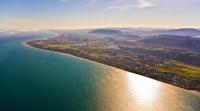 Aerial;Pararaumu;Kapiti_Coast;Kapiti_Island;Cook_Strait;native_forest;Blue_sky;b