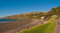 Pukerau_Bay;Kapiti_Coast;Tararua_Ranges;vegetable_growing;Blue_sky;tramping_trac