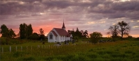 Awanui;Northland;cumulus_cloud;church;sunset;pink_sunset;cemetery