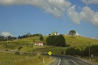 Awanui;Northland;River;cumulus_cloud;church;Kareponia_Church_on_the_Hill;Karepon