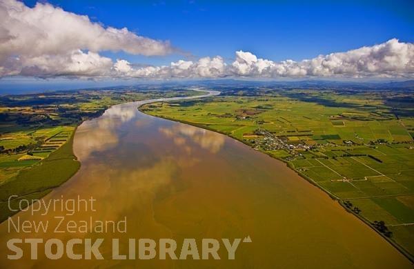 Dargaville New Zealand  city photos : Aerial;Dargaville;Ruawai;Northland;kaipara;Wairoa River;airfield ...