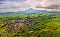Aerial;Eltham;South_Taranaki;Mount_Taranaki;Mount_Egmont;dairy;dairy_farming;mil