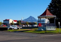 Inglewood;Taranaki;Mount_Taranaki;Bandstand;blue_sky