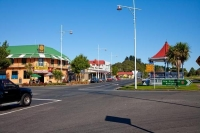 Inglewood;Taranaki;Pub;Bandstand;cross_roads;lamp_posts;cabbage_trees
