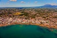 Aerial;New_Plymouth;Taranaki;Mount_Taranaki;Clear_water;Down_Town;city_beach;sea
