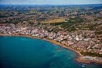 Aerial;New_Plymouth;Taranaki;sea_front;Clear_water;Down_Town