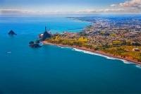 Aerial;New_Plymouth;Taranaki;beach;Down_Town;sugar_loaf_islands;harbour;tank_far
