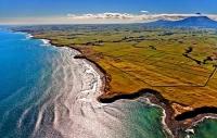 Aerial;Opunake;Taranaki;River;Rivers;bush;native_forrest;green_fields;green_padd