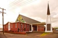 Opunake;Taranaki;churches;school;cafes;murals;sculptures;post_office;shops;Catho
