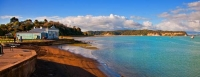 Kawhia;Waikato;coastal;bachs;holiday_homes;bush;native_forrest;blue_sky;blue_sea