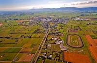 Aerial;Matamata;Waikato;suburburban;bridge;green_fields;New_Zealand;agricultural