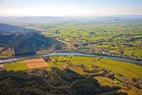 Aerial;Taupiri;Waikato_River;suburburban;bridge;green_fields;River;bridge;Maori_