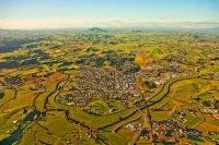 Aerial;Otorohanga;Waikato;airport;agricultural;Dairy;Dairy_industry;Waipa_river;