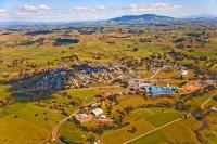 Aerial;Tirau;Waikato;suburburban;green_fields;New_Zealand;agricultural;corrugate