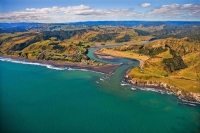 Aerial;West_Coast_Waikato;Waikato;coastal;bachs;holiday_homes;bush;native_forres