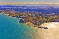 Aerial;Castle_Point;Wairarapa;Blue_sea;blue_sky;cumulus_clouds;rocky_shorelines;