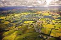 Aerial;Eketahuna;Wairarapa;agricultural;Dairy;Dairy_industry;sheep;church;museum
