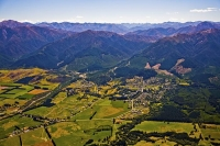 Aerial;green_fields;paddocks;brown_hills;hills;mountains;blue_sky;Hanmer_Range;A