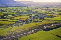 Aerial;Oxford;Canterbury;mountains;hills;Canterbury_Plain;North_Canterbury;green