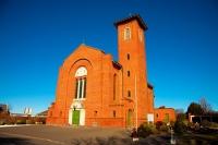 Ashburton;Canterbury;Canterbury_Plain;Green_Paddocks;green_fields;church;churche