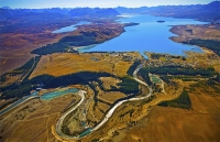 Aerial;Lake_Tekapo;South_Canterbury;Canterbury;Tekapo_Township;Lake;Spillway;hyd