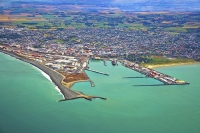 Aerial;Timaru;South_Canterbury;Canterbury;dock;Harbour;ships;logs