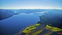 Aerial;Lake_Te_Anau;Fiordland;mountains;hills;rivers;Road;State_Highway_94;bush;
