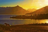 Lake_Te_Anau;Fiordland;mountains;hills;rivers;Road;State_Highway_94;bush;native_