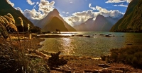 Milford_Sound;Fiordland;mountains;hills;rivers;Road;State_Highway_94;bush;native