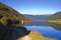 Cobb_River_Valley;Golden_Bay;mountains;hills;rivers;Road;bush;native_forrest;gre