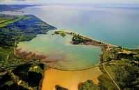 Aerial;Golden_Bay_Coast;Golden_Bay;River;sandy_beaches;rocky_shorelines;state_hi