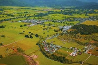 Aerial;Takaka;Golden_Bay;hills;rivers;Road;bush;native_forrest;green_fields;gree